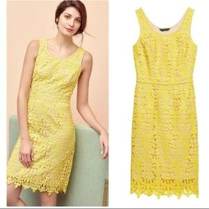 Banana Republic yellow lace dress size 0